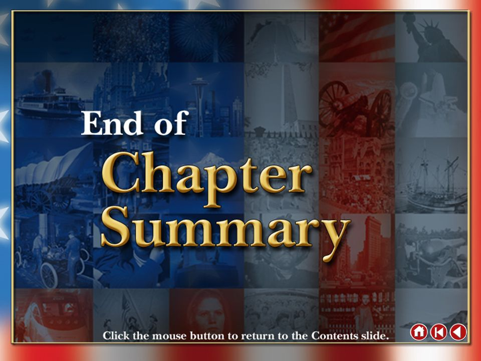 End of Chapter Summary