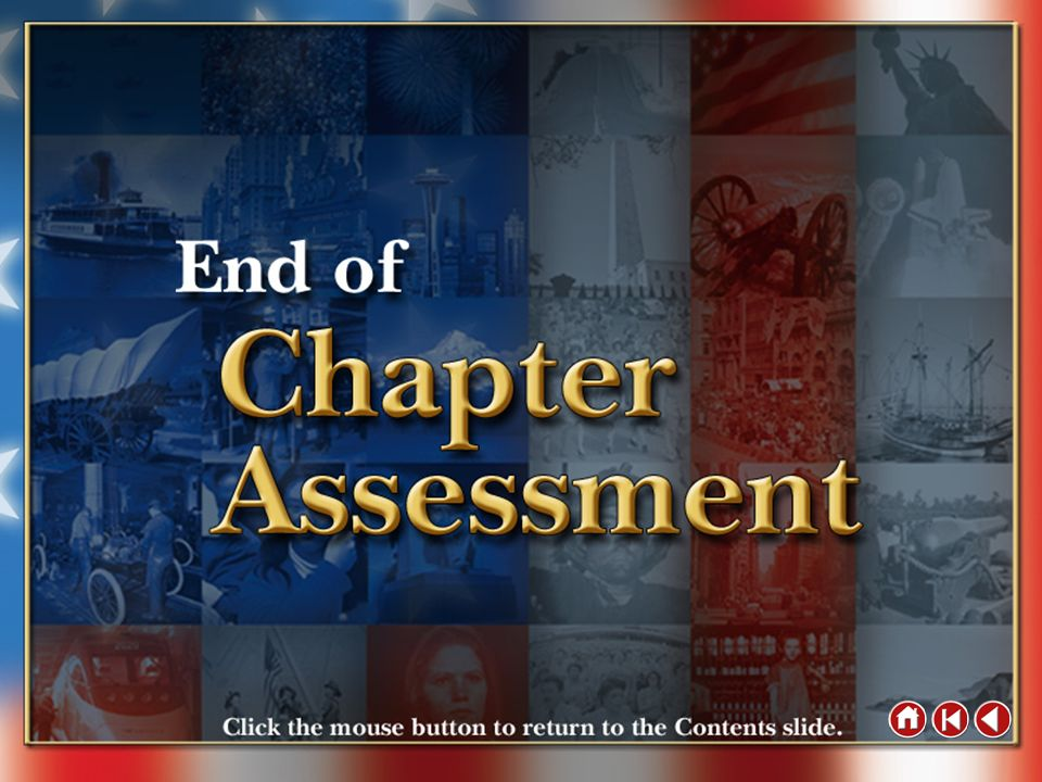 End of Chapter Assessment