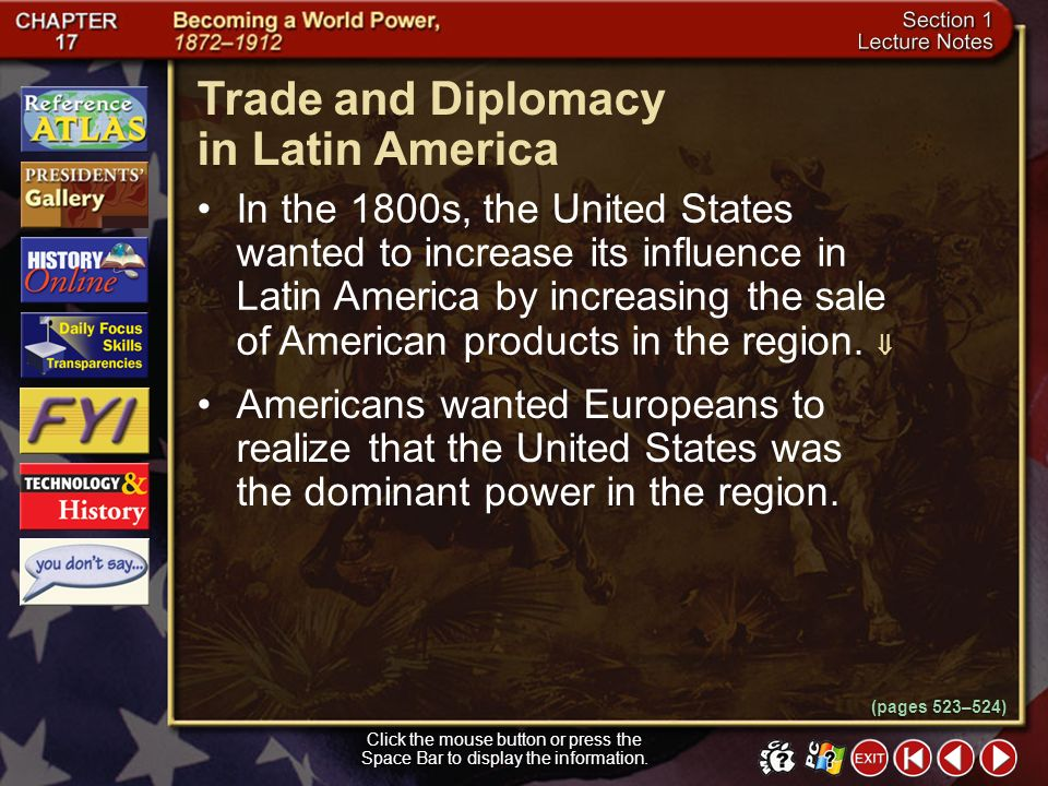 Trade and Diplomacy in Latin America