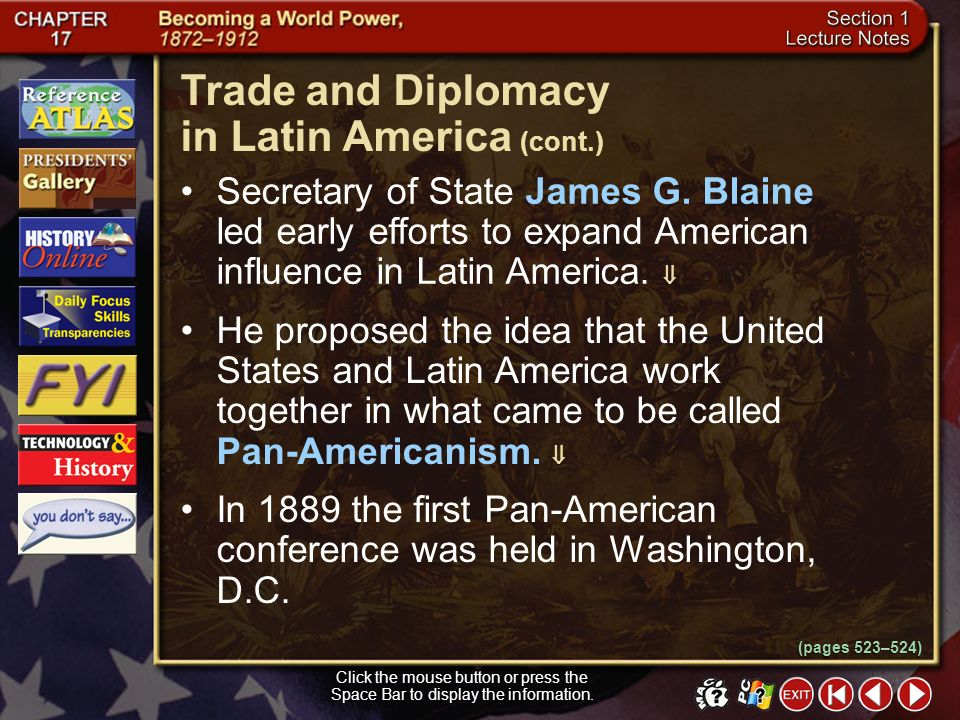 Trade and Diplomacy in Latin America (cont.)