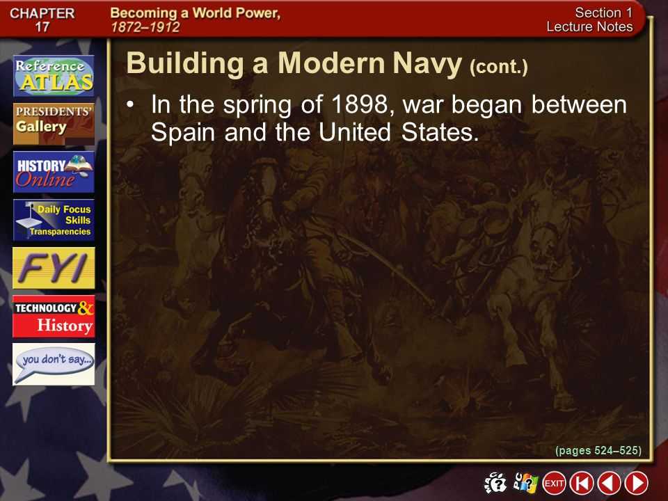 Building a Modern Navy (cont.)