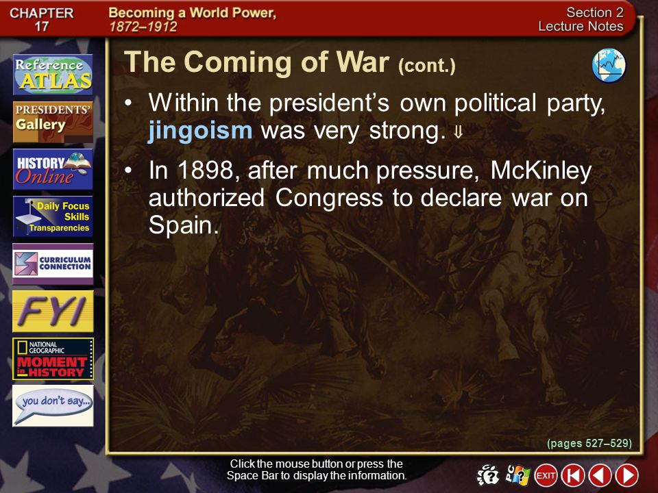 The Coming of War (cont.)