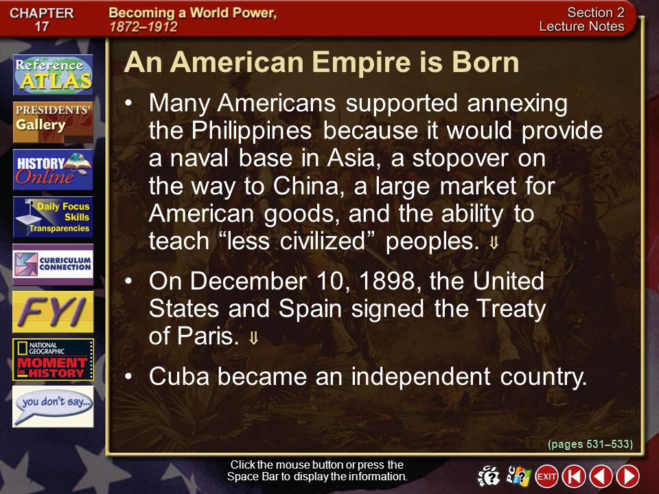 An American Empire is Born