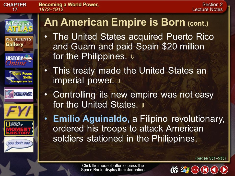 An American Empire is Born (cont.)