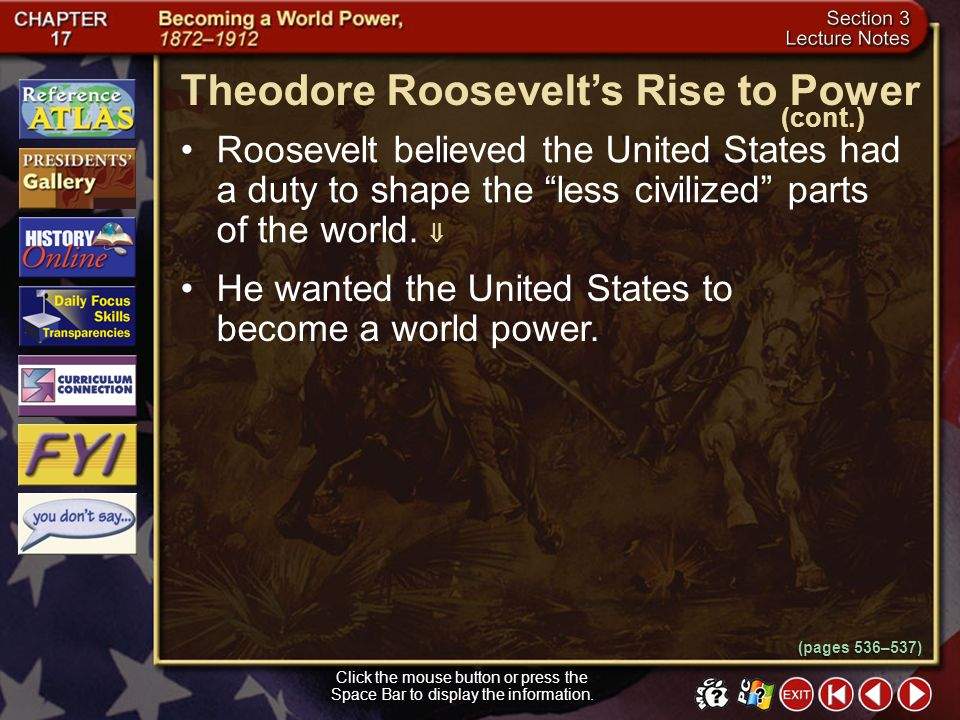 Theodore Roosevelt's Rise to Power