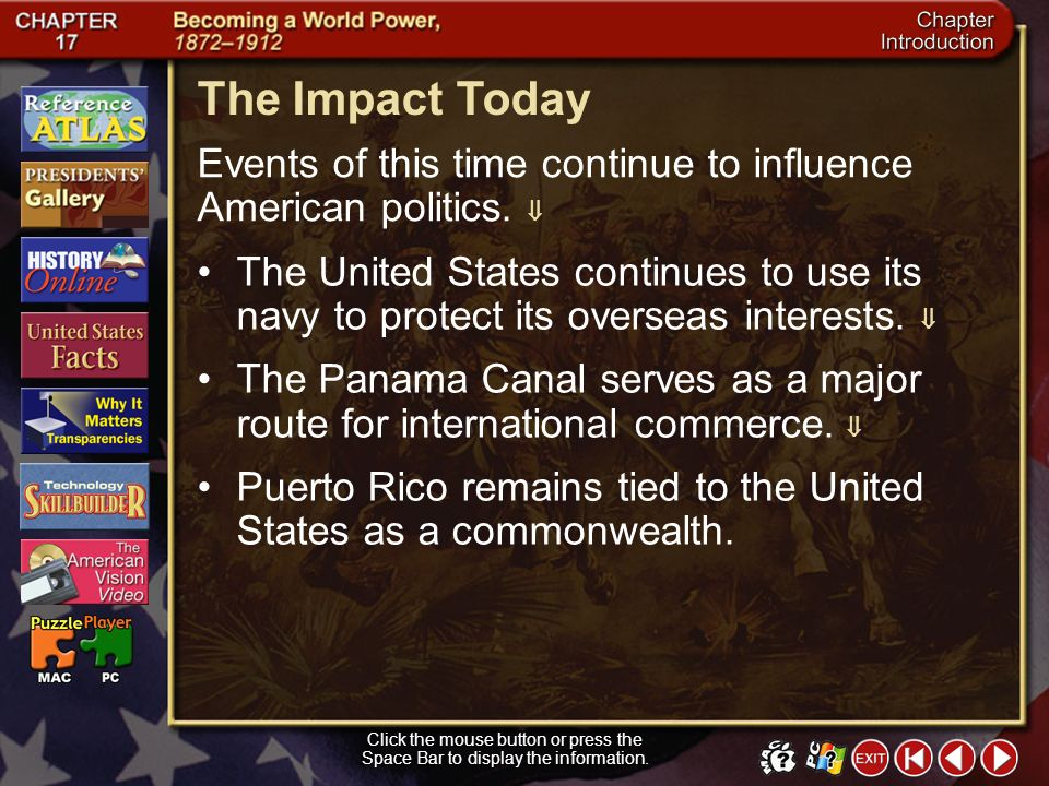 The Impact Today Events of this time continue to influence American politics. 