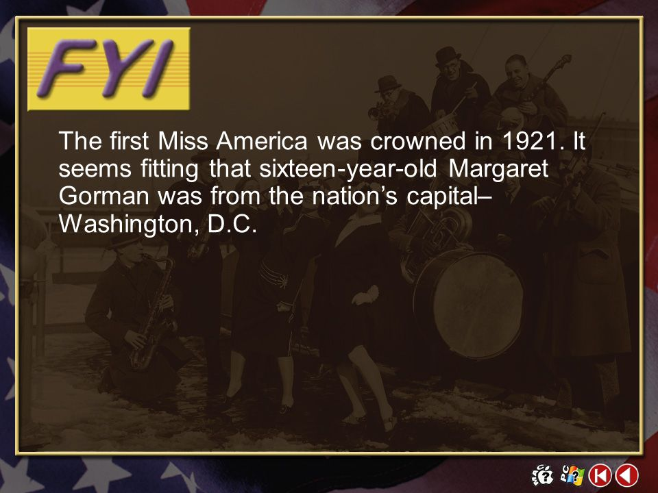 The first Miss America was crowned in 1921