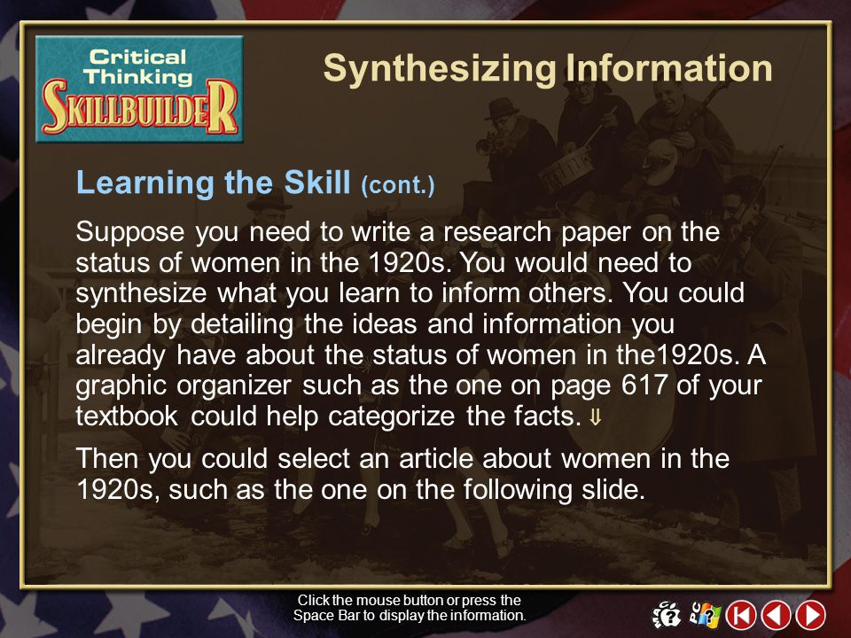 Synthesizing Information
