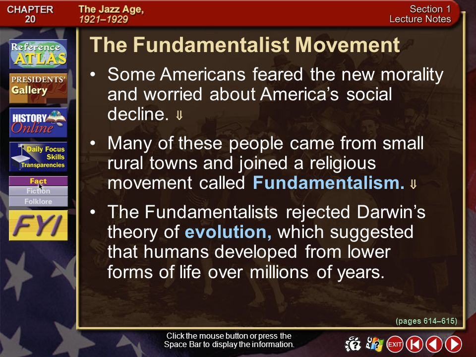 The Fundamentalist Movement
