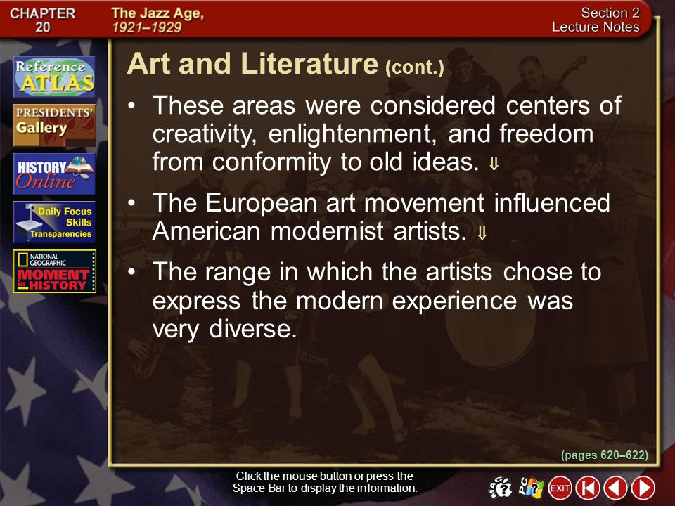 Art and Literature (cont.)