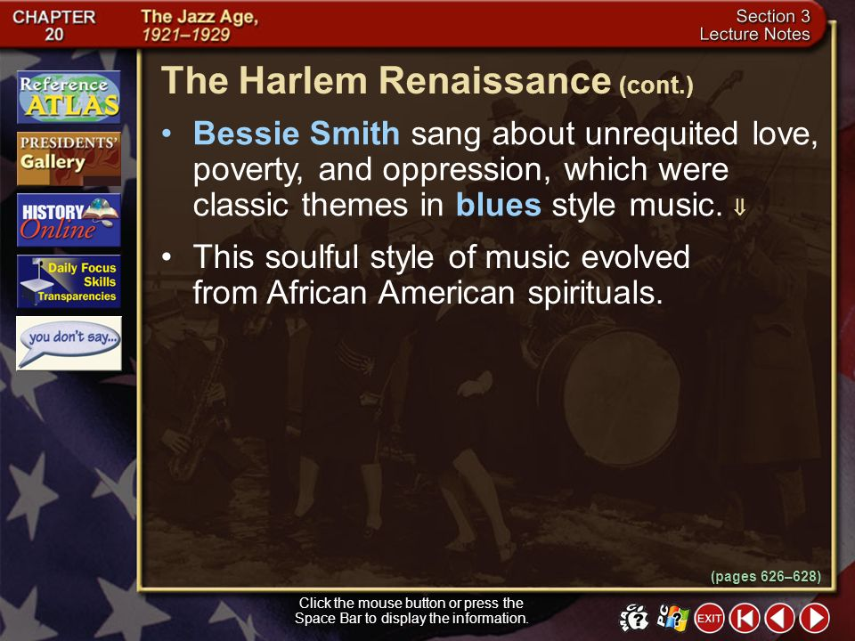 The Harlem Renaissance (cont.)