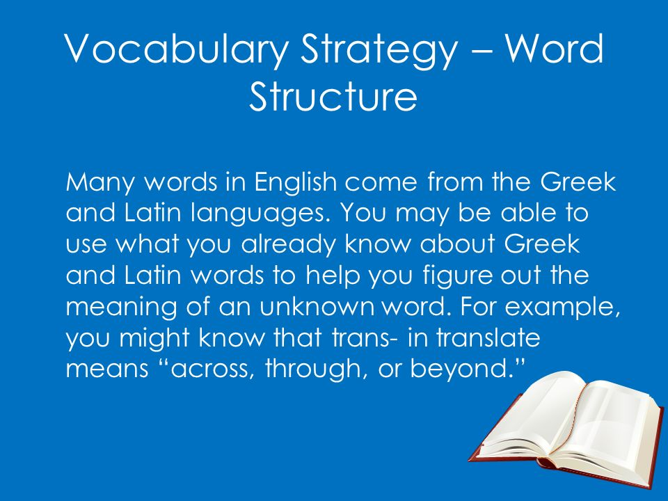 Vocabulary Strategy – Word Structure