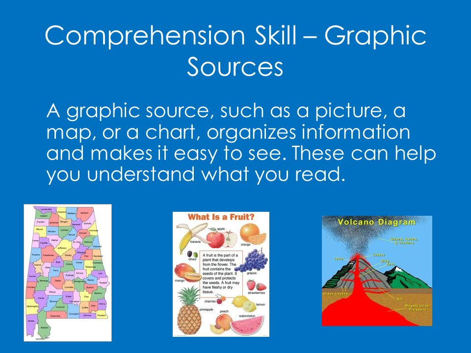 Comprehension Skill – Graphic Sources