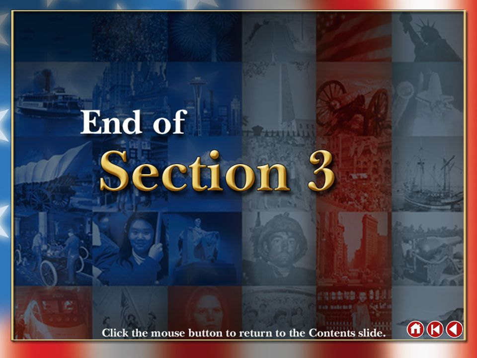 End of Section 3