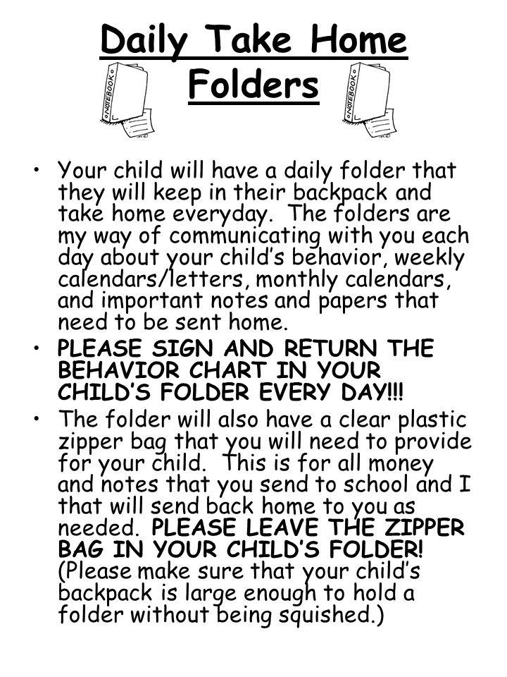 Daily Take Home Folders