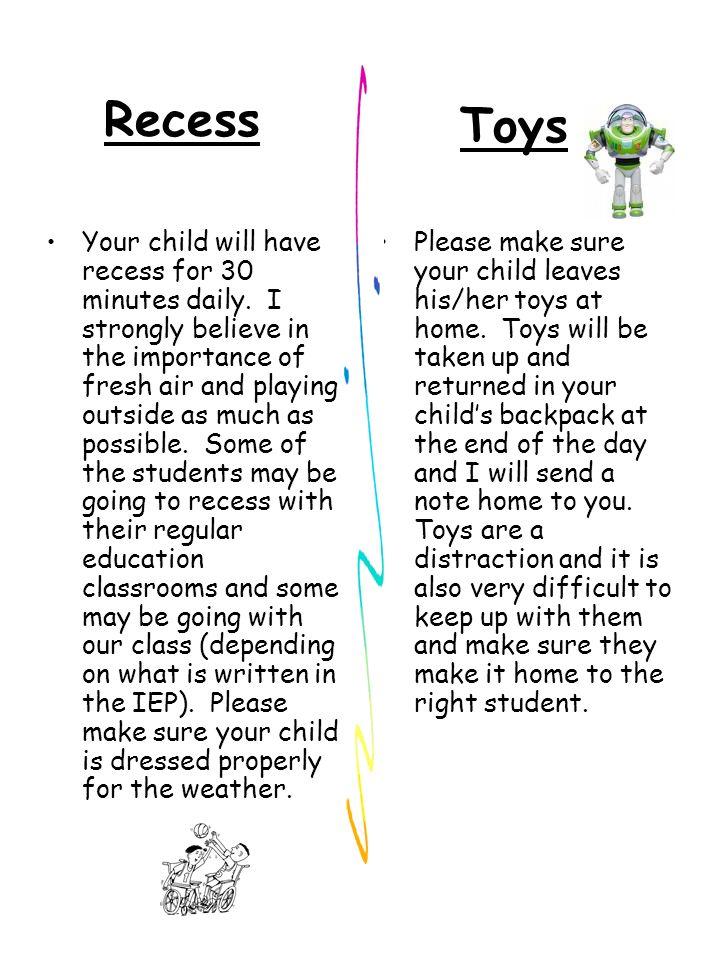Recess Toys.