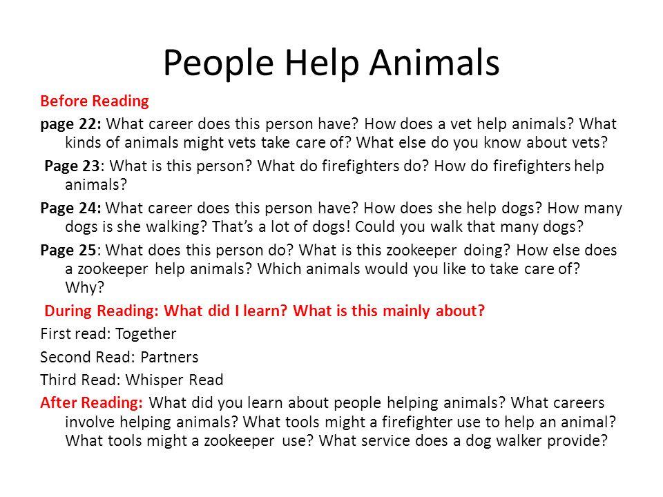 People Help Animals