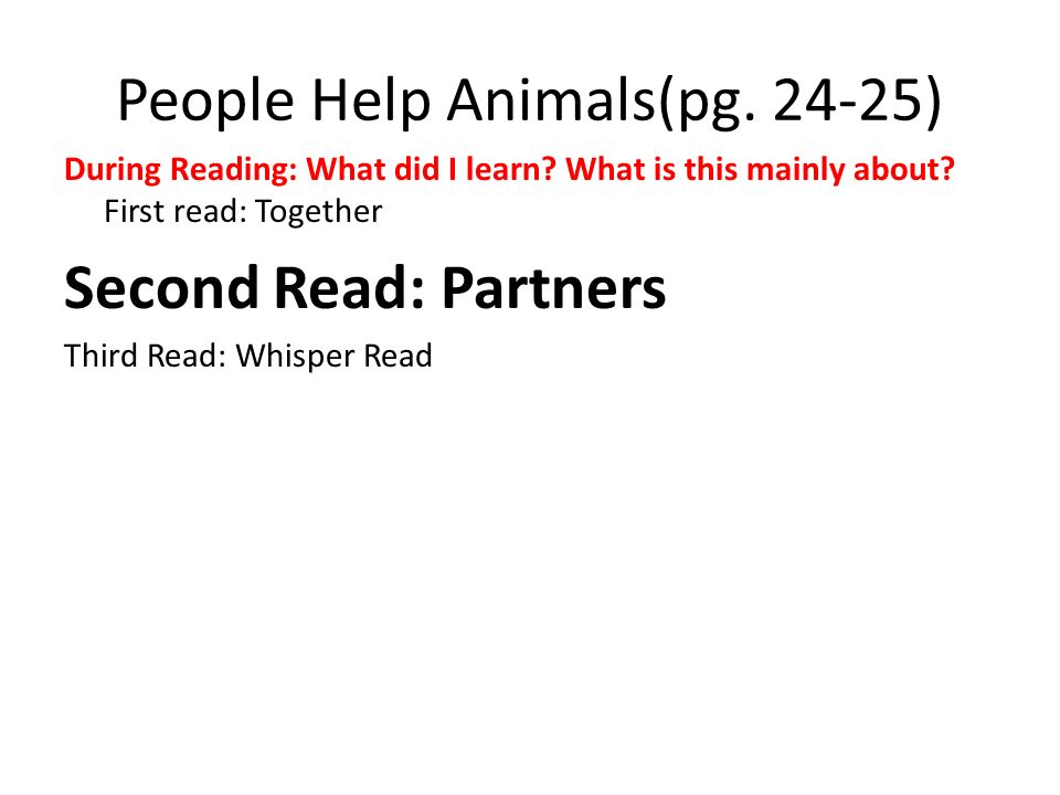 People Help Animals(pg. 24-25)