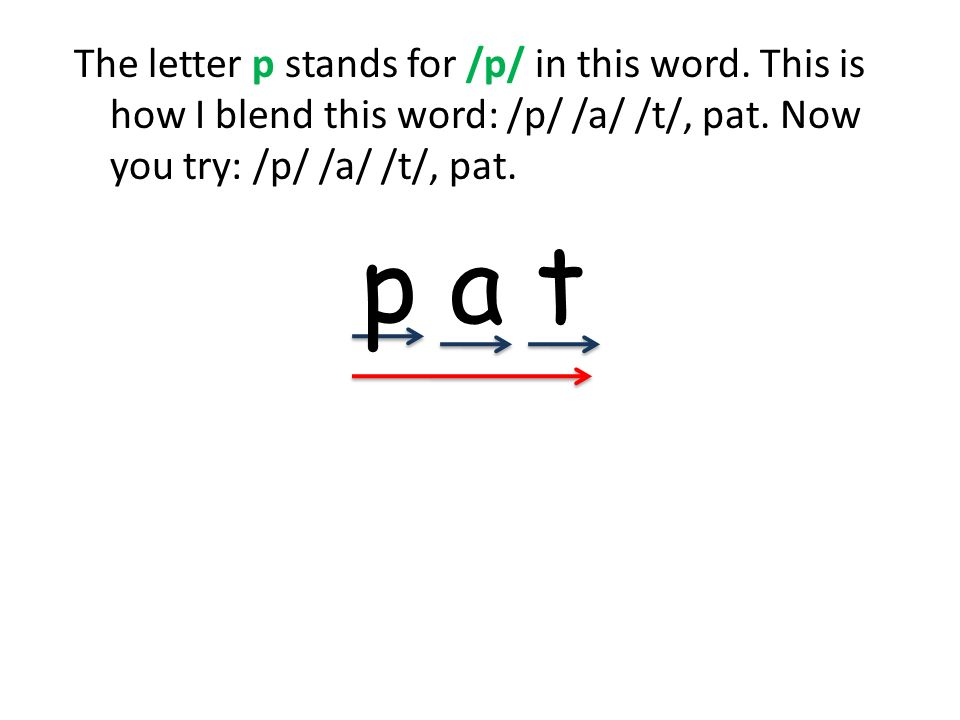The letter p stands for /p/ in this word