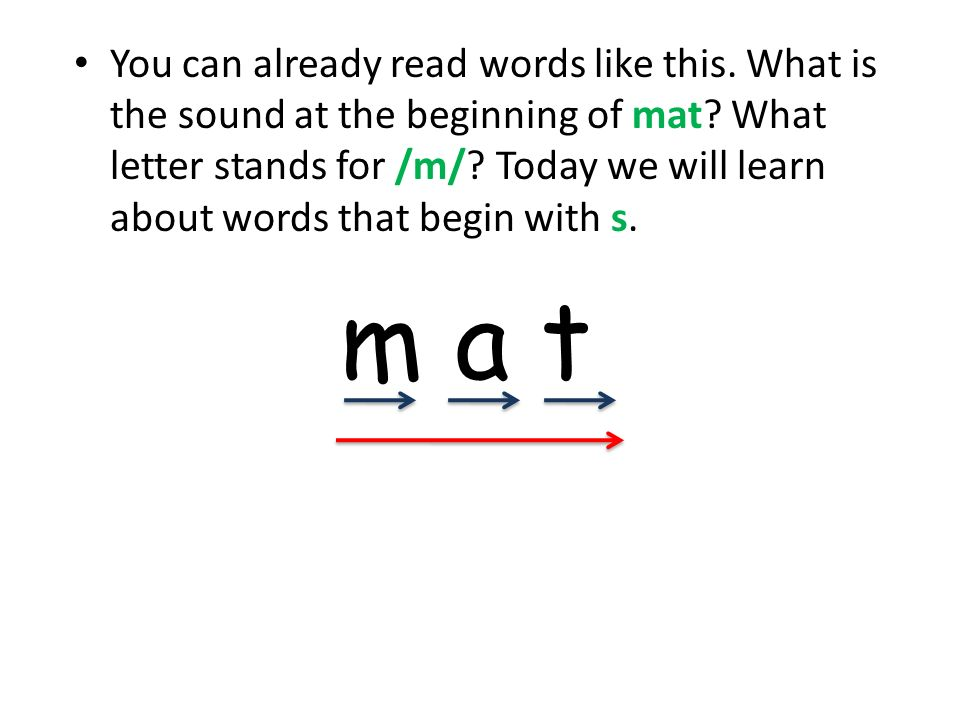 You can already read words like this