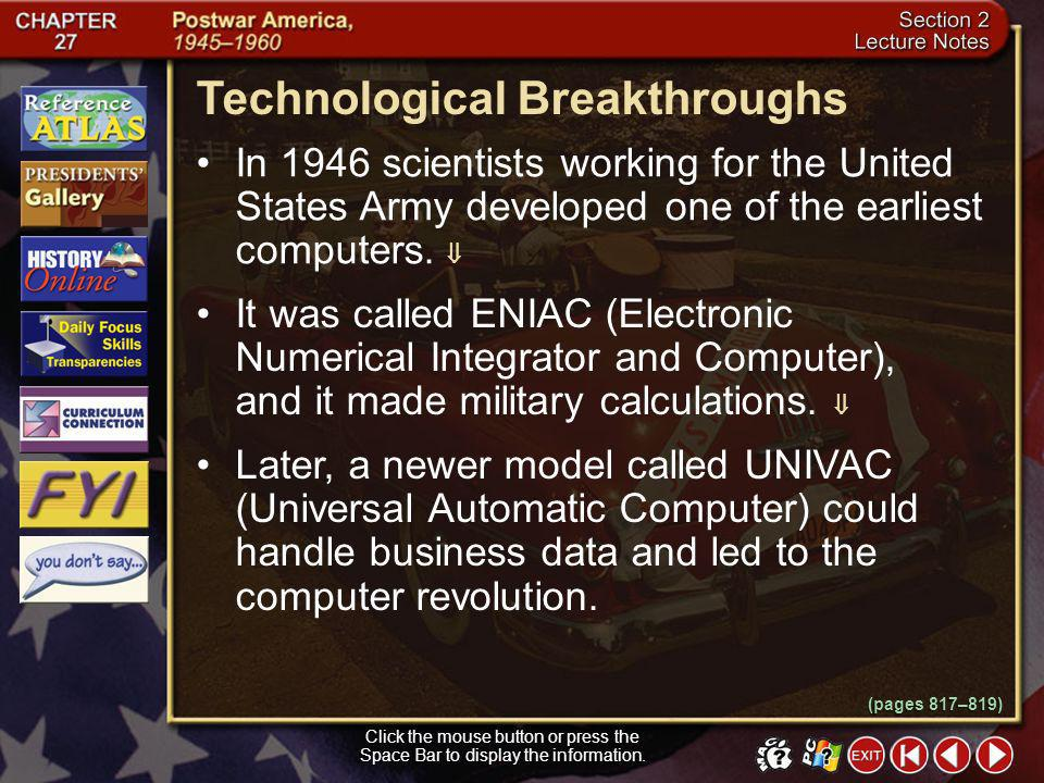 Technological Breakthroughs