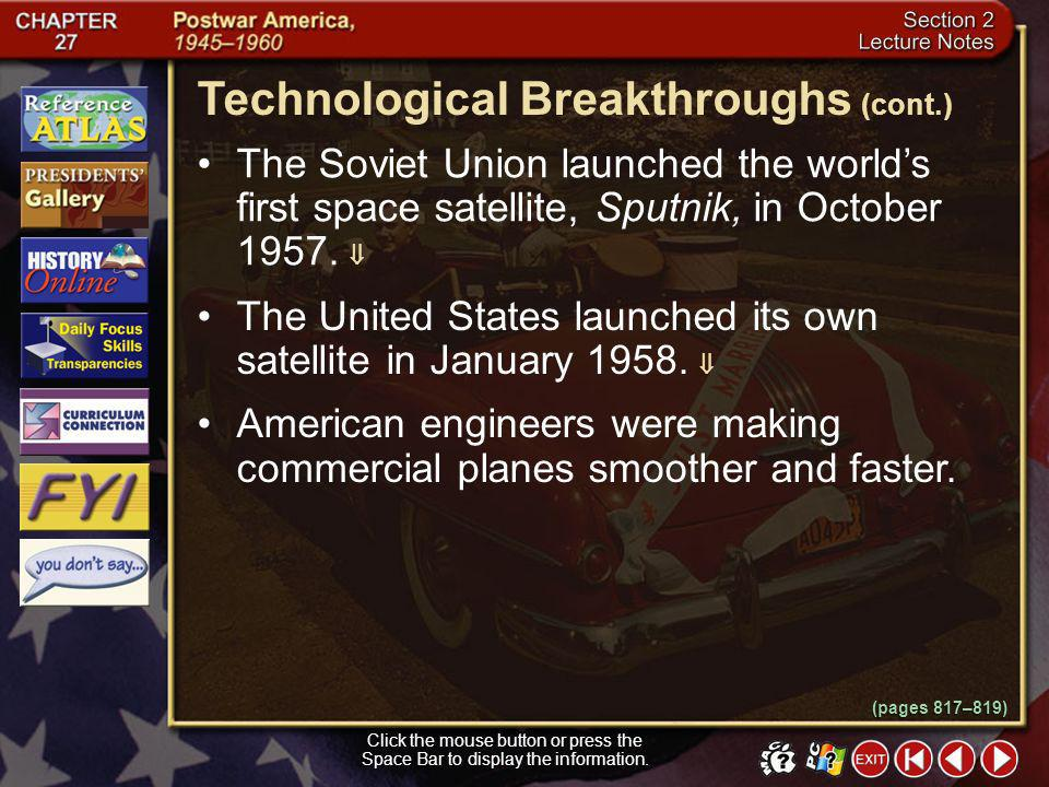 Technological Breakthroughs (cont.)