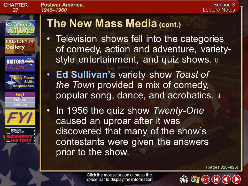 The New Mass Media (cont.)