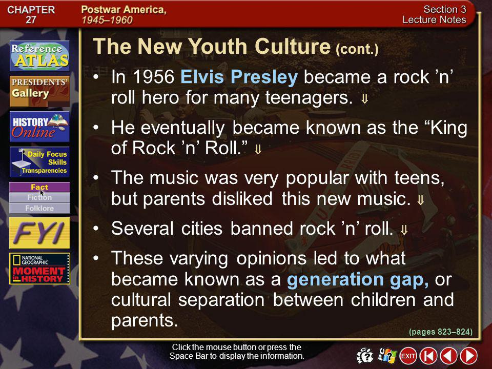 The New Youth Culture (cont.)