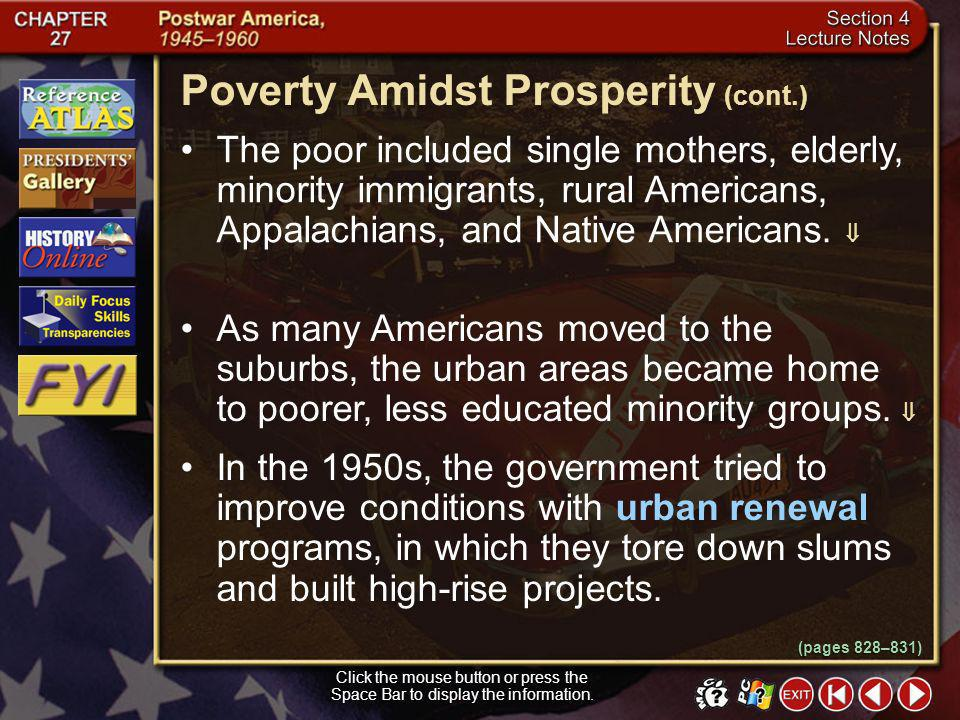 Poverty Amidst Prosperity (cont.)