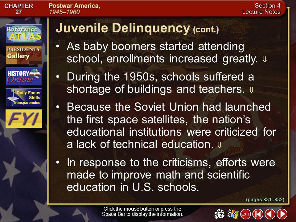 Juvenile Delinquency (cont.)