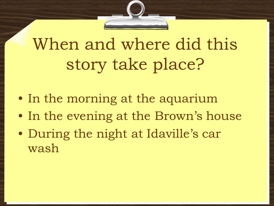 When and where did this story take place