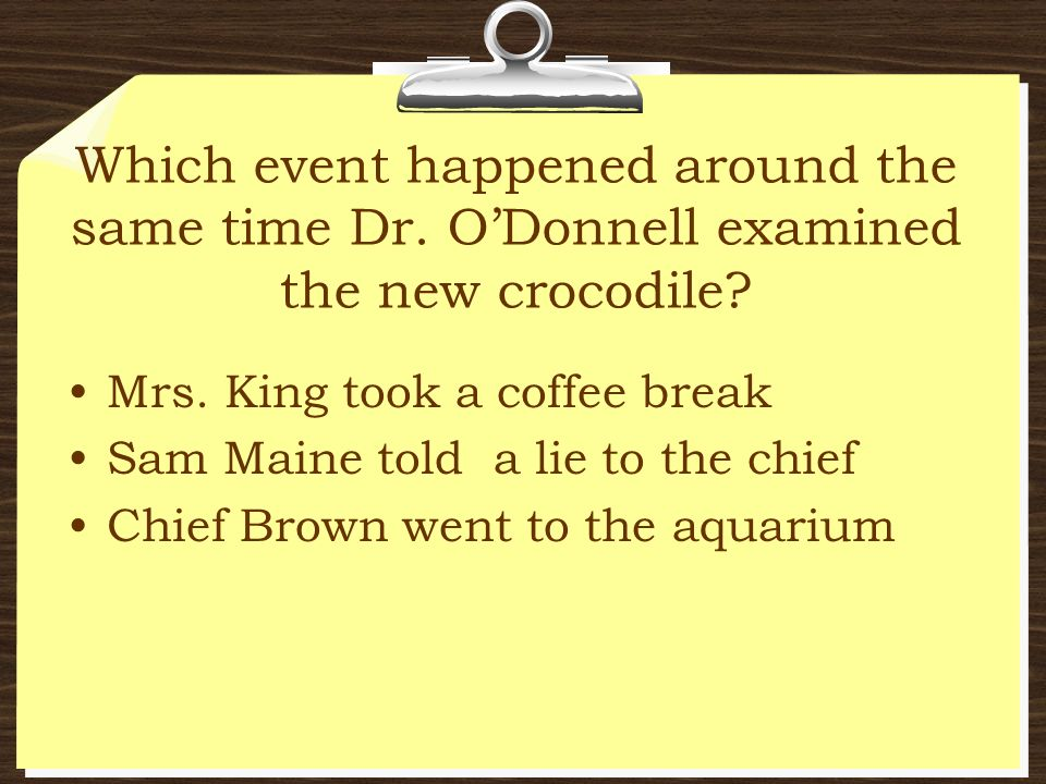 Which event happened around the same time Dr