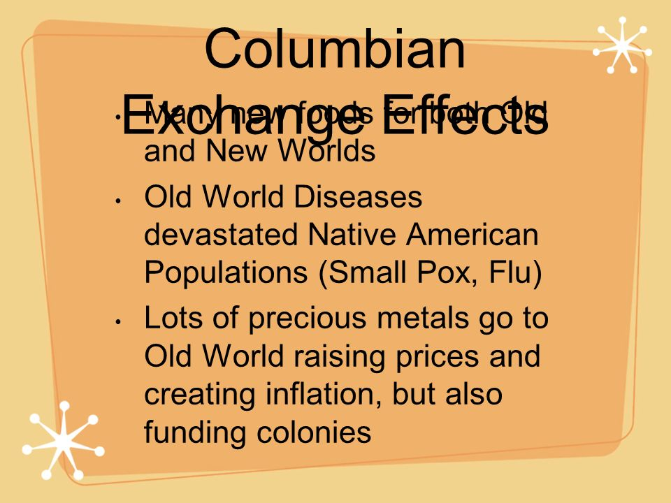 Columbian Exchange Effects