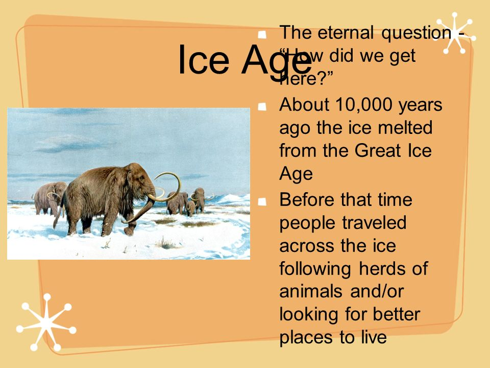 Ice Age The eternal question - How did we get here
