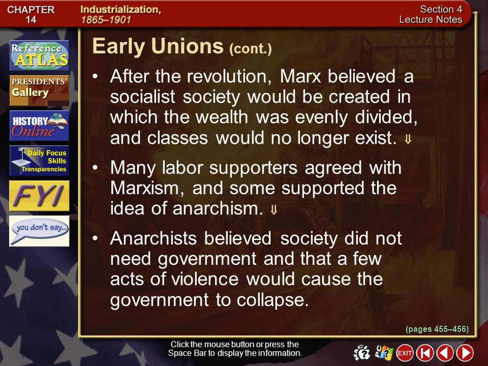 Early Unions (cont.)