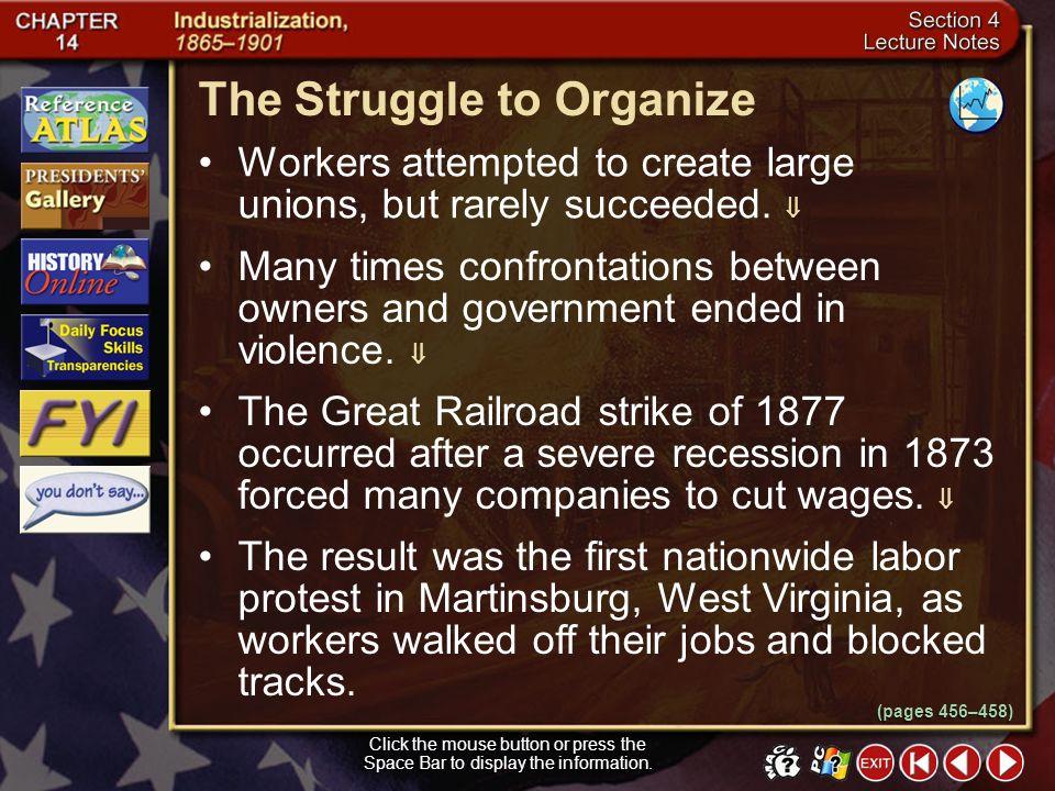 The Struggle to Organize