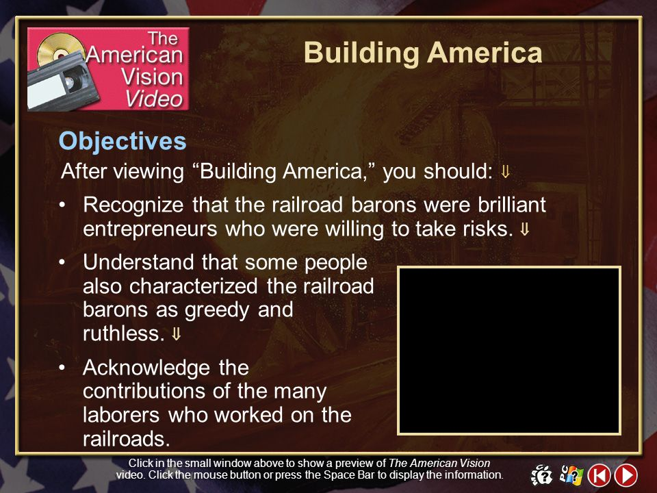 Building America Objectives
