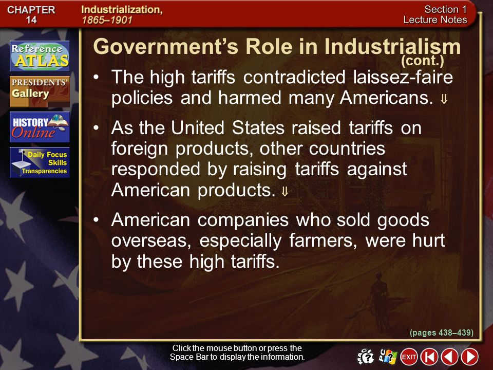 Government's Role in Industrialism