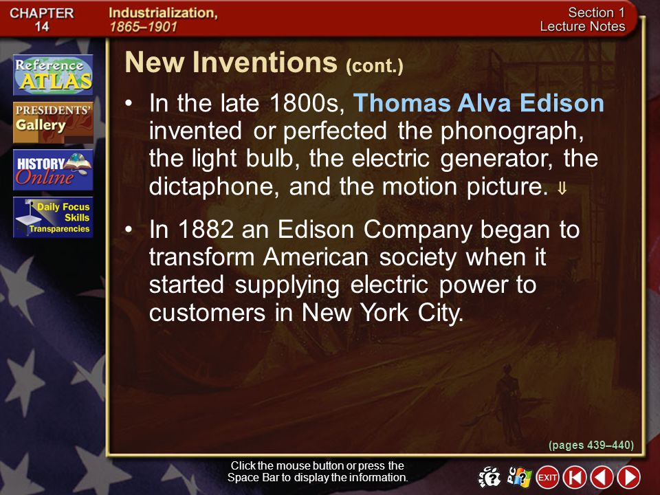 New Inventions (cont.)