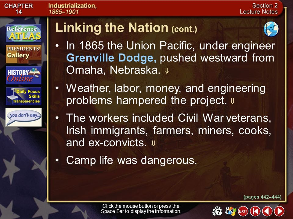 Linking the Nation (cont.)