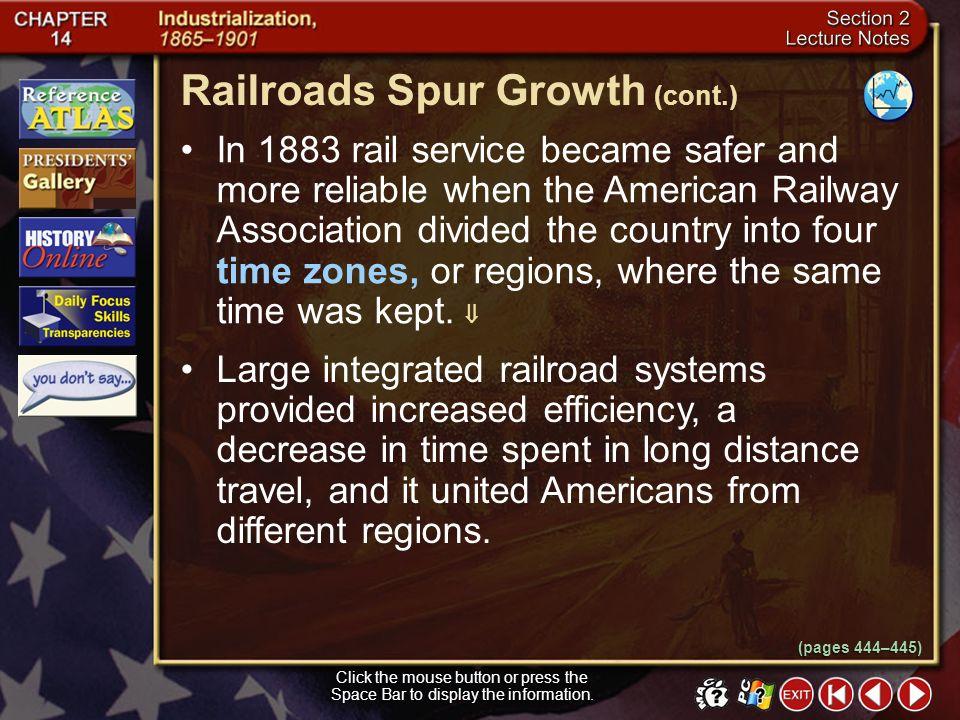 Railroads Spur Growth (cont.)