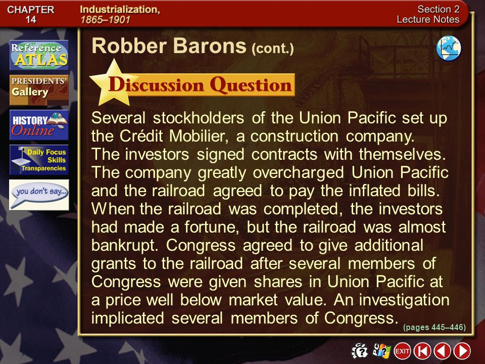 Robber Barons (cont.)