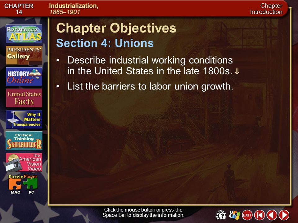 Chapter Objectives Section 4: Unions