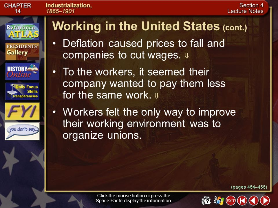 Working in the United States (cont.)