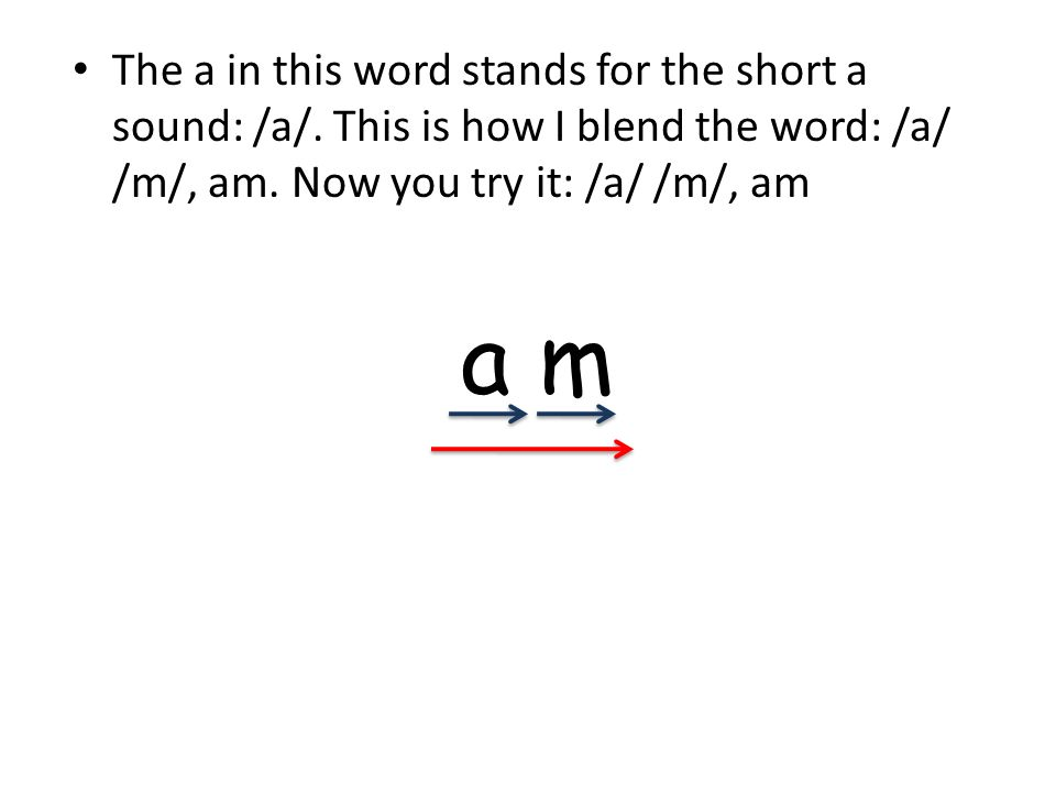 The a in this word stands for the short a sound: /a/