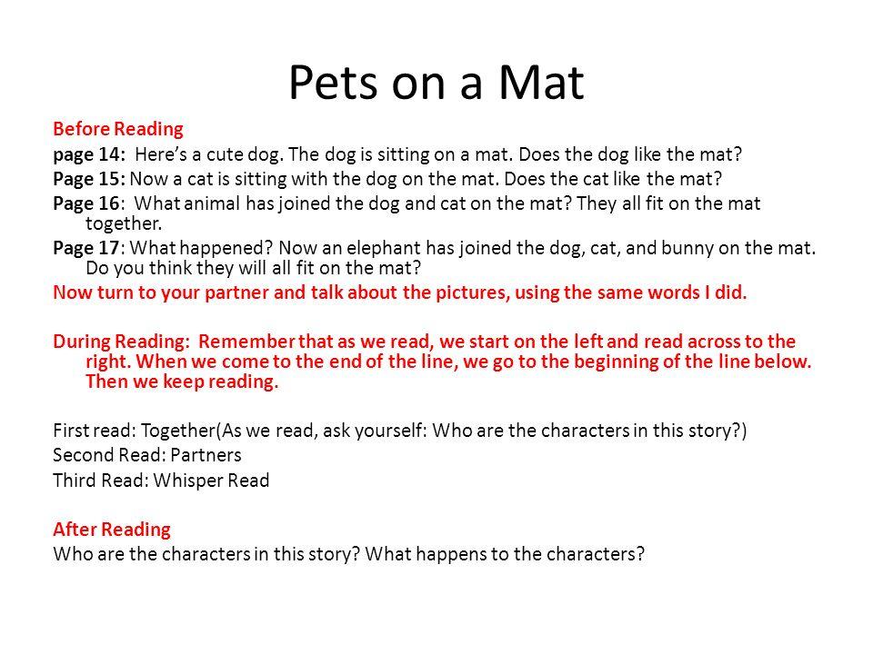 Pets on a Mat