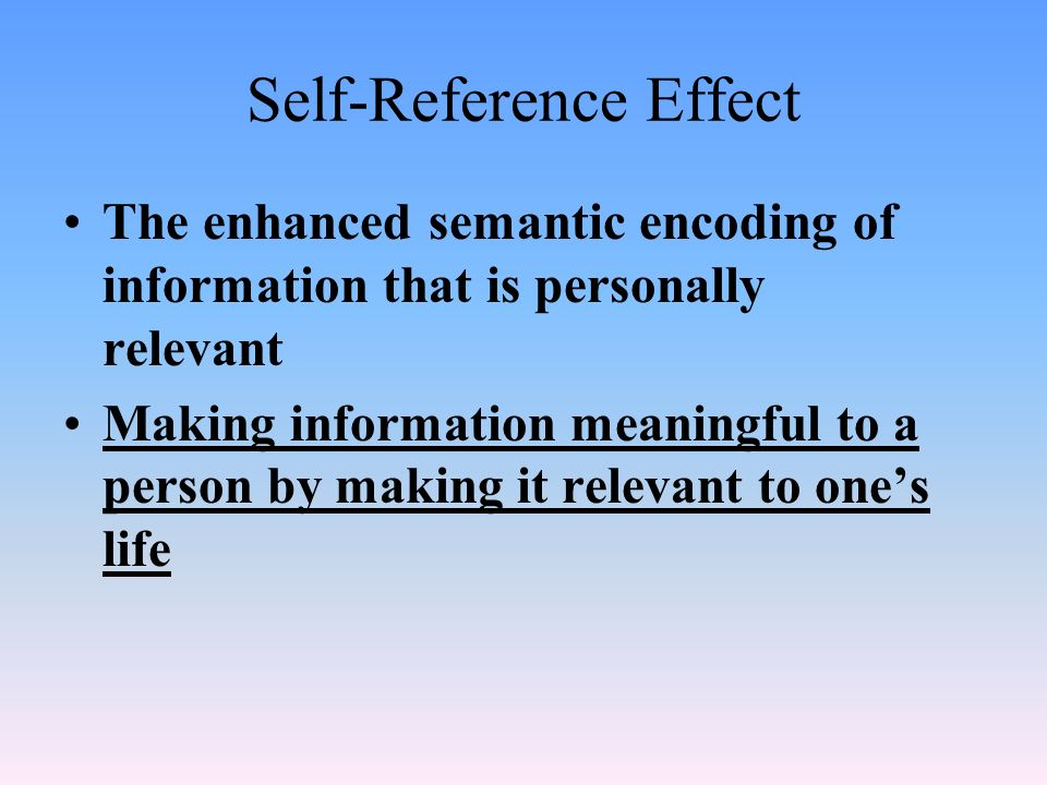 Module 18: Information Processing Let's test our memories ...