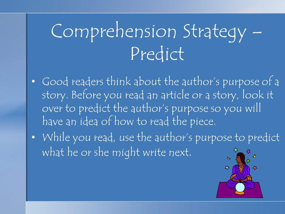 Comprehension Strategy – Predict