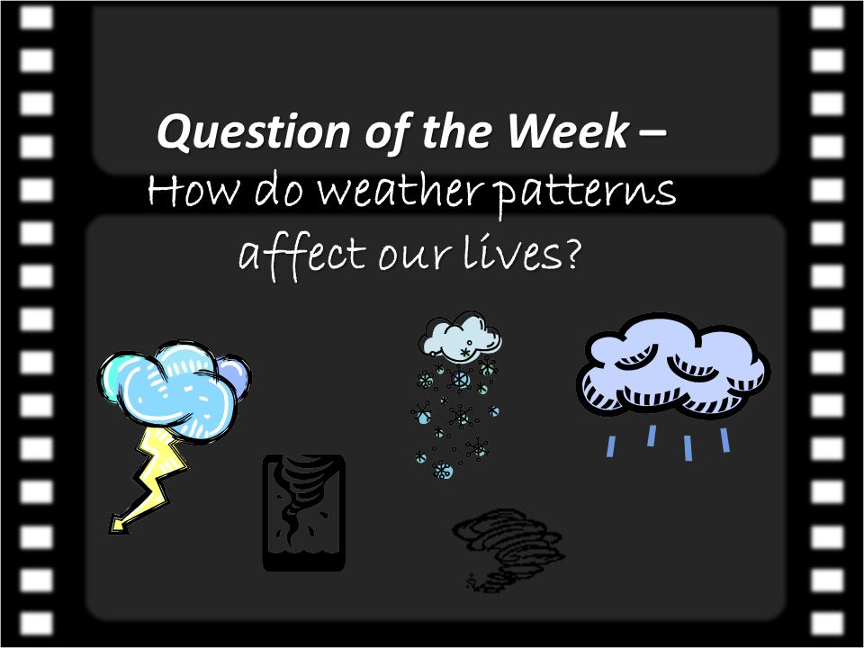 Question of the Week – How do weather patterns affect our lives