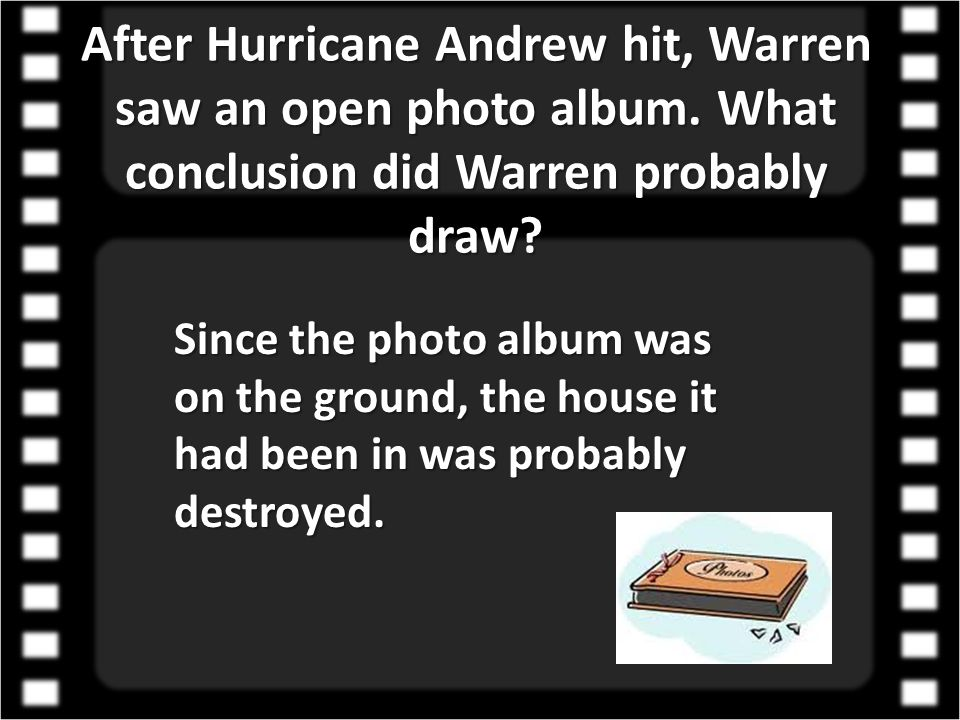 After Hurricane Andrew hit, Warren saw an open photo album